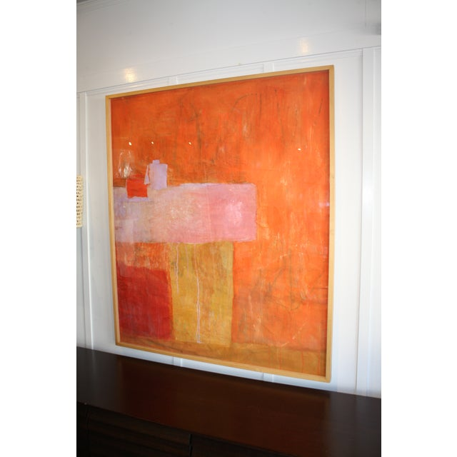 Paper Original Abstract Collage Painting by Charlotte Culot For Sale - Image 7 of 7