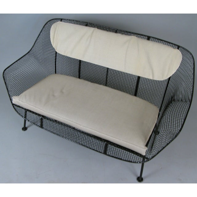 Mid-Century Modern Classic 1950s 'Sculptura' Settee by Russell Woodard For Sale - Image 3 of 7