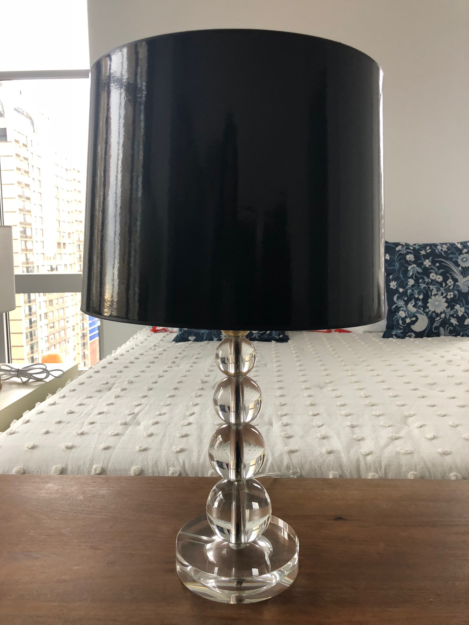 Pottery Barn Stacked Crystal Table Lamps A Pair Chairish