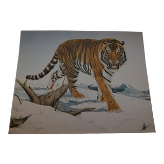 Siberian Tiger Limited Edition Lithograph #47/50 For Sale