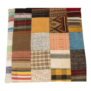 Modern Wool Patchwork Floor Pillow For Sale