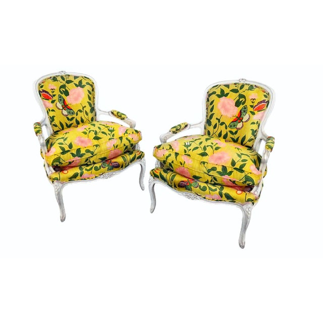 Last Call B. Altman & Co. New York Bergere Chairs - a Pair For Sale - Image 4 of 4