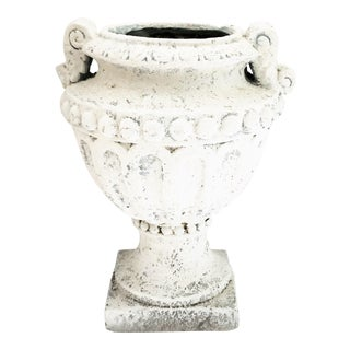 Late 20th Century Faux Concrete Urn For Sale