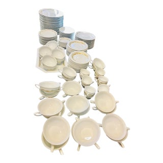 1950 Rosenthal Maria Gold Garland 133 Pieces Dinnerware Set For Sale