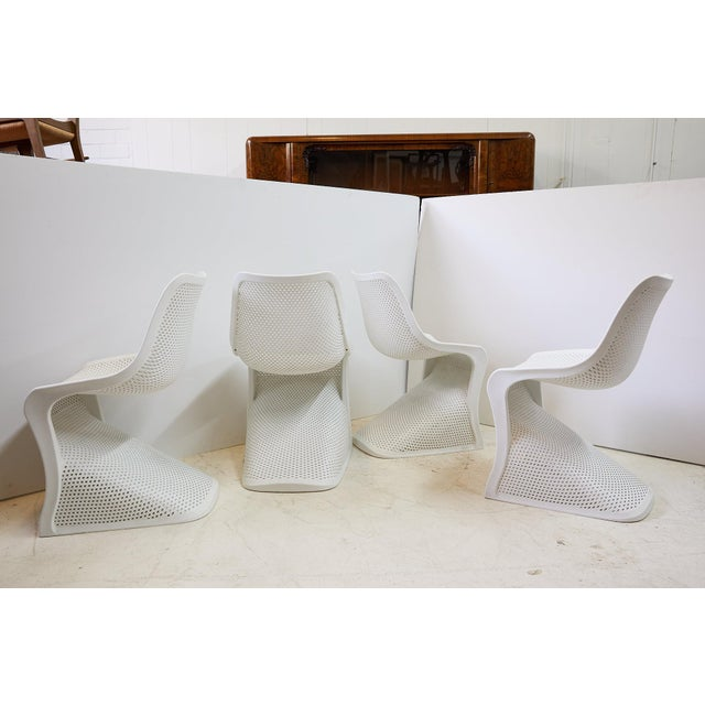 Modern Indoor/Outdoor Cantilever Chairs by Compamia, Set of 4 For Sale In Atlanta - Image 6 of 13