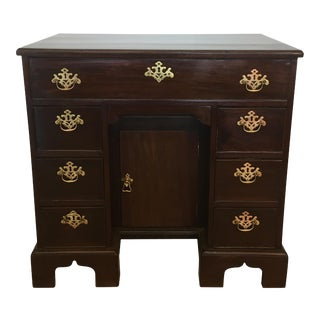 Early 19th Century Antique English Mahogany Knee Hole Desk For Sale