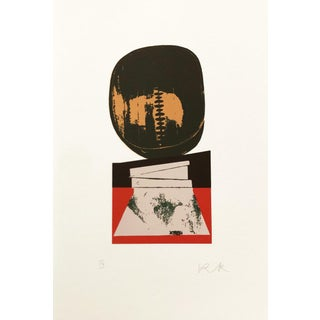 1978 Ronald King Screen Print Pencil Signed & Numbered, the Yeoman For Sale