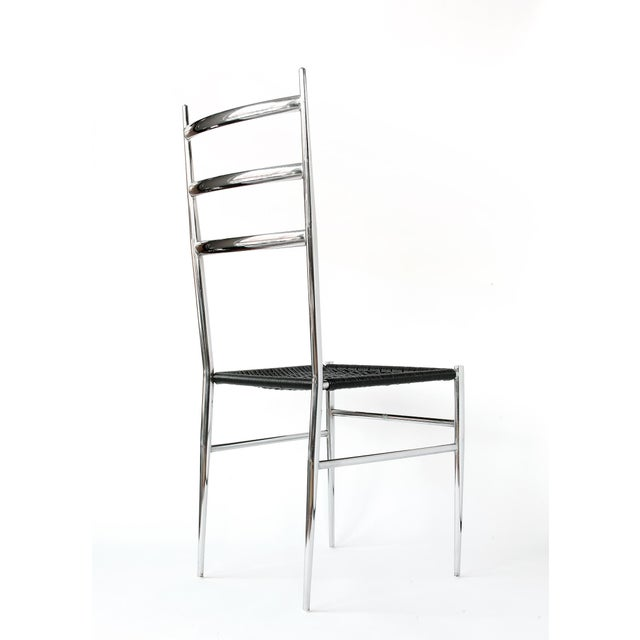 Modern Gio Ponti Style Superleggera High Back Chair For Sale - Image 3 of 12