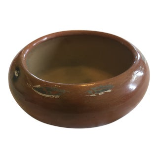 Antique Earthy Terracotta Red Bowl For Sale