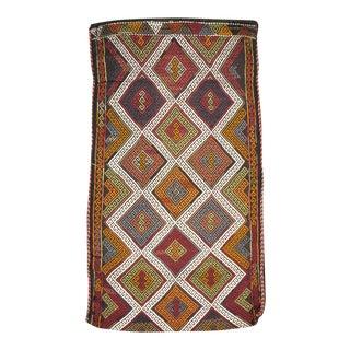 Mid-20th Century Handmade Vintage Turkish Flatweave Kilim Throw Rug For Sale