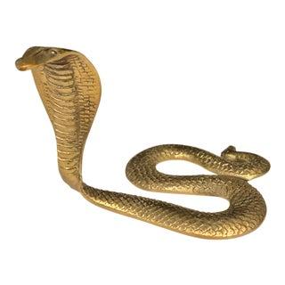 Brass Cobra Snake Figurine For Sale