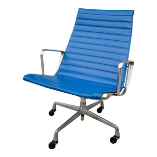 1950s Vintage Herman Miller Eames Aluminum Group Lounge Chair For Sale