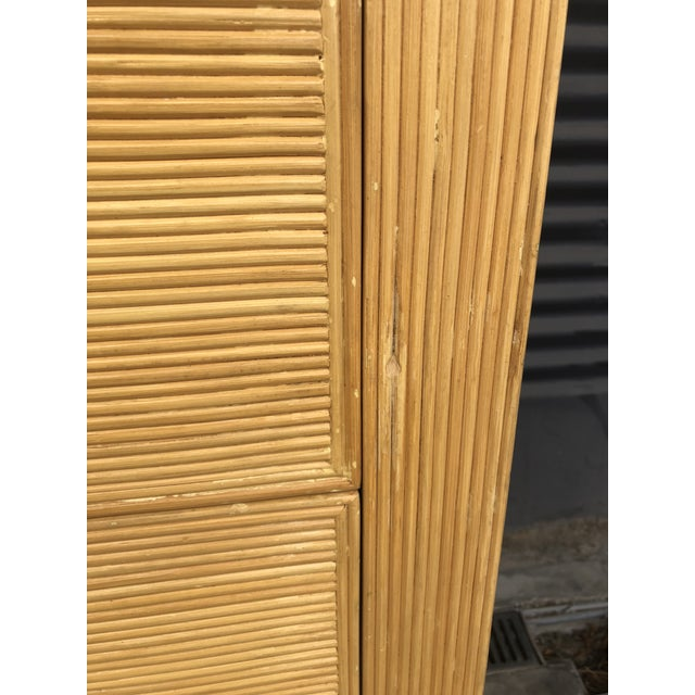 Vintage Pencil Reed Rattan Chest of Drawers For Sale - Image 12 of 13