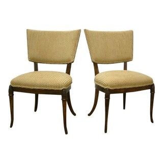 1930s Beechwood Klismos Chairs - A Pair For Sale