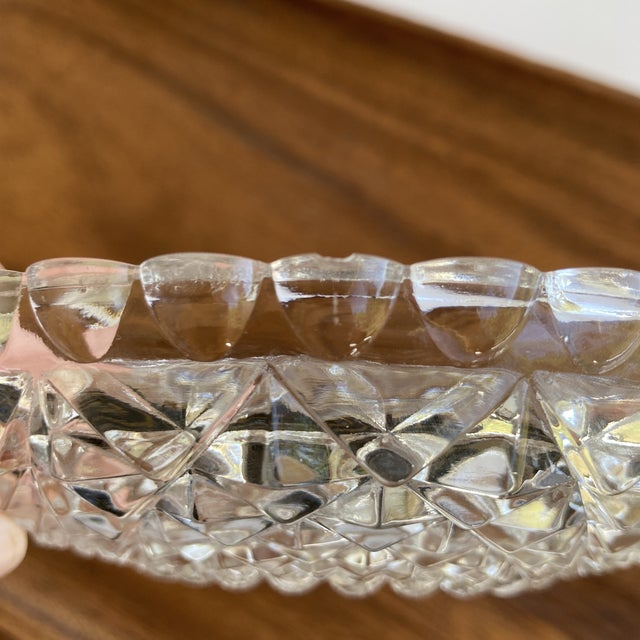 Glass Vintage Textured Glass Catchall Dish For Sale - Image 7 of 11