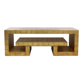 James Mont Style Gold Leaf Console