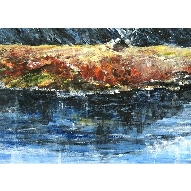 Mountaintop Lake Oil Painting - Image 2 of 4