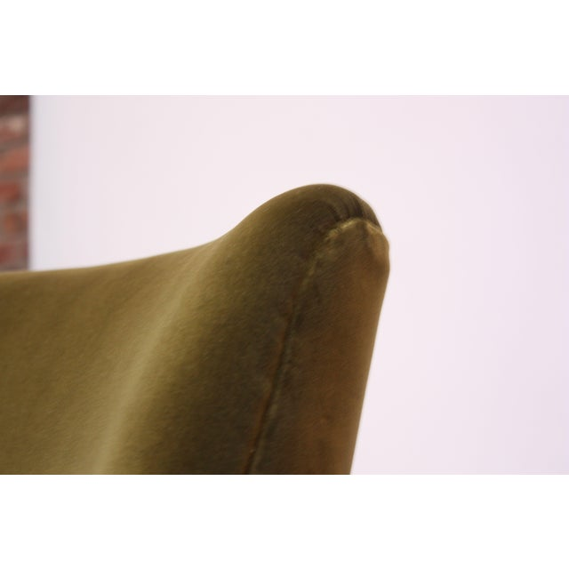 Mid-Century Italian Modern Sculpted Walnut and Velvet Lounge Chair For Sale - Image 11 of 13