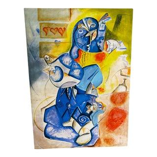 "Alexandra Nechita ""Blueberry Man"" Lithograph Hand Signed 43/65 A/P For Sale"