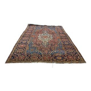 Early 20th Century Antique Persian Farahan Sarouk Rug - 3′6″ × 5′ For Sale