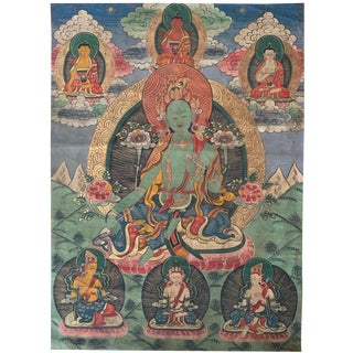 Early 20th Century Tibetan Thangka Painting For Sale