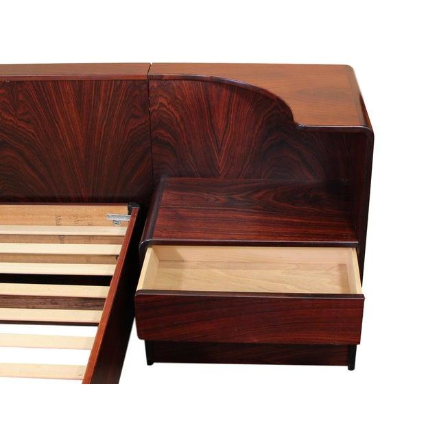Danish Rosewood King Size Platform Bed For Sale - Image 4 of 11