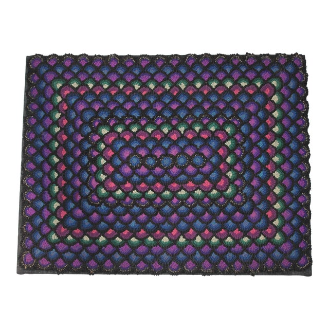 20th Century Pennsylvania Mennonite Geometric Rug For Sale