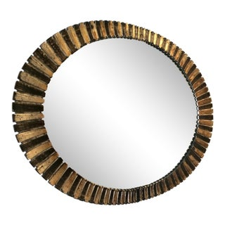 Vintage Oval Wall Mirror For Sale