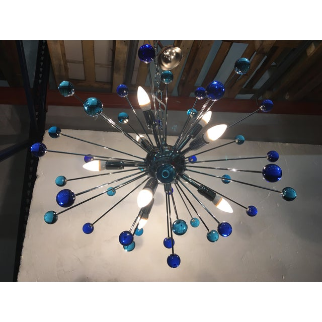 Contemporary Murano Glass Triedo Sputnik Chandelier For Sale In Columbus, GA - Image 6 of 11