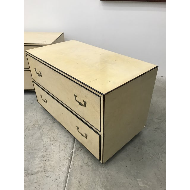 1960s Campaign John Widdicomb Commodes - a Pair For Sale - Image 11 of 13