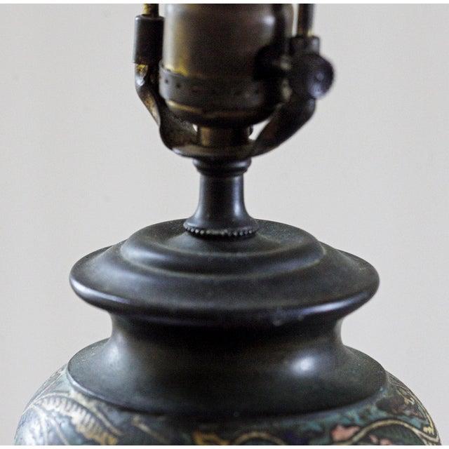 Vintage Cloisonne Lamps - Pair - Image 2 of 8