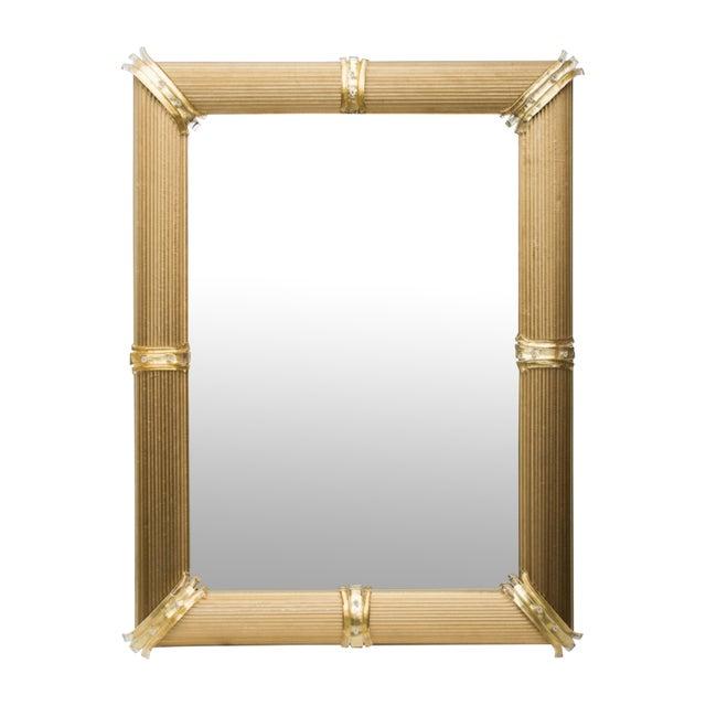 2010s Gold Venetian Rigatello Mirror For Sale - Image 5 of 5