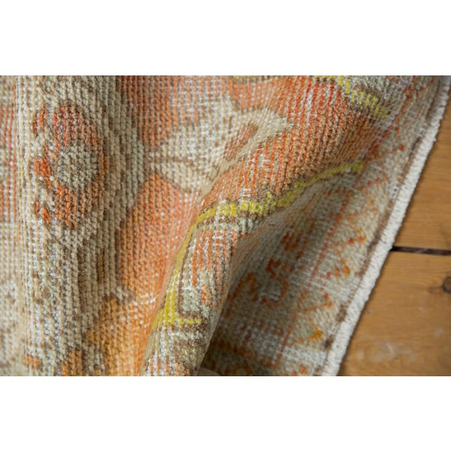 "Shabby Chic Vintage Distressed Oushak Rug Mat - 1'7"" X 3'1"" For Sale - Image 3 of 7"