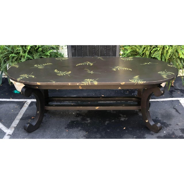 Patina Furniture Inc. Hand Painted Italian Dining Table. It features a beautiful hand painted fern finish and came from...