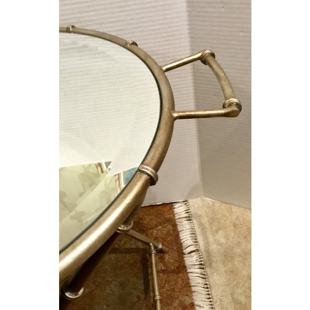 Asian Modern Mirror Top Style Side Table For Sale - Image 4 of 6