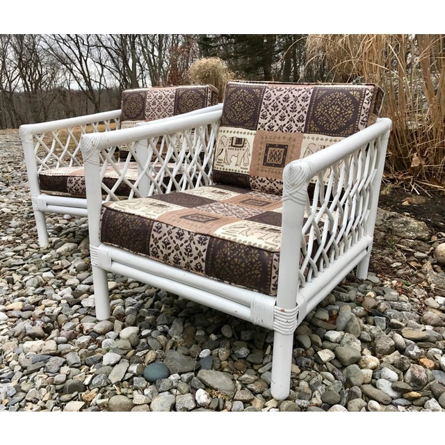 Vintage Willow & Reed Rattan Arm Chairs - A Pair For Sale - Image 5 of 11