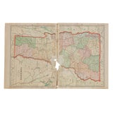 Image of Cram's 1907 Map of Vermont For Sale