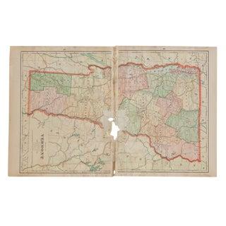 Cram's 1907 Map of Vermont