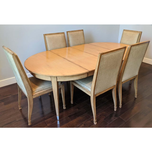 Swaim Dining Set - 7 Pieces For Sale In San Francisco - Image 6 of 6