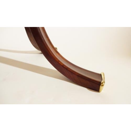 Brown Osvaldo Borsani Rare and Important Center Table in Cherry and Glass For Sale - Image 8 of 9