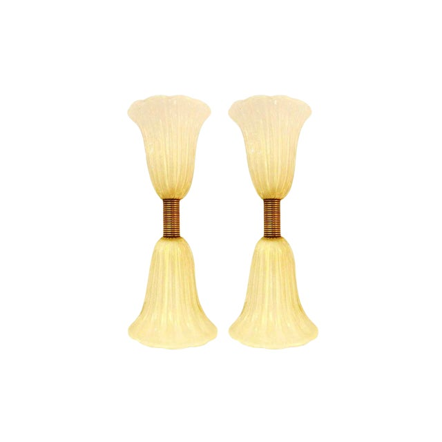 Mid-Century Barovier & Toso Wall Sconces For Sale