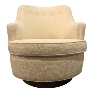 "Vintage Mid Century Modern Edward Wormley for Dunbar Swivel ""TV"" Chair For Sale"