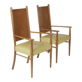 1960s Mid-Century Modern t.h. Robsjohn-Gibbings for Widdicomb Armchairs - a Pair For Sale