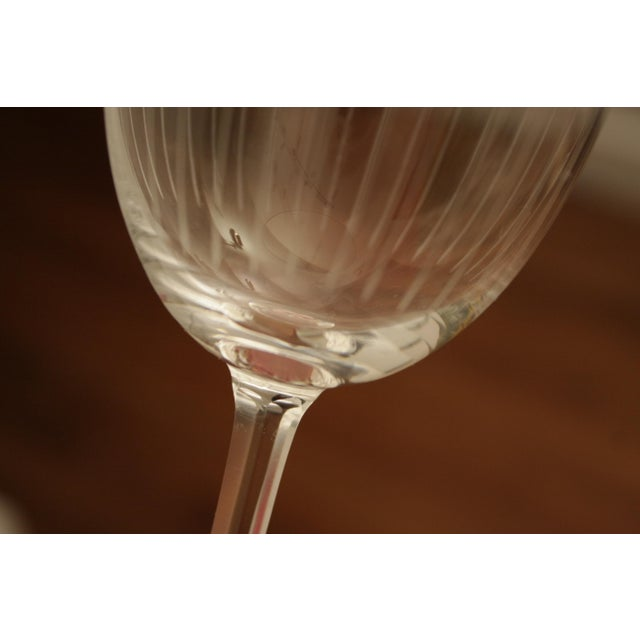 Etched Crystal Wine Glasses From Sweden - Set of 12 - Image 7 of 8