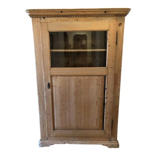 19th Century Pine Vitrine / Glass Armoire
