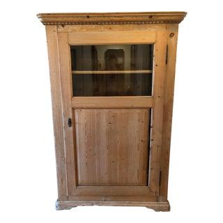 19th Century Pine Vitrine / Glass Armoire For Sale