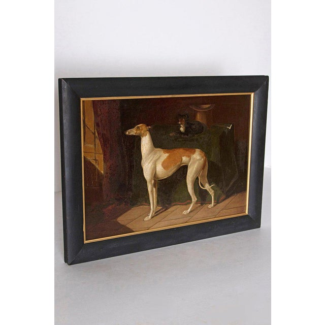 Georgian Early 19th Century English Whippet Oil Painting For Sale - Image 3 of 13