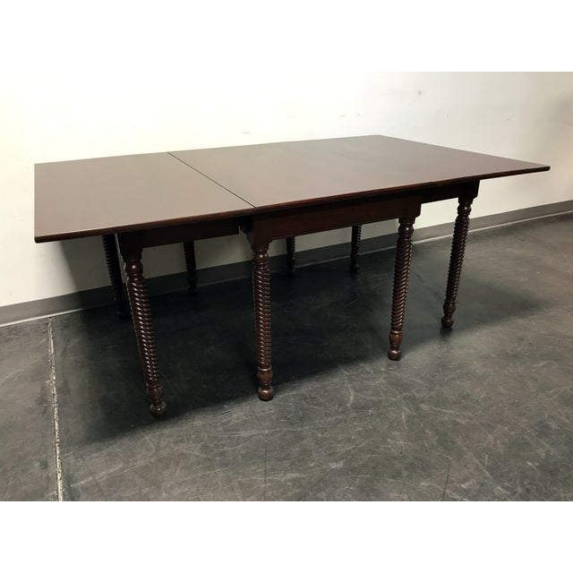 Wow! Stunning Solid Cherry Gate Leg Dining Table from top-quality furniture maker Willett. Made in USA. This gate leg...