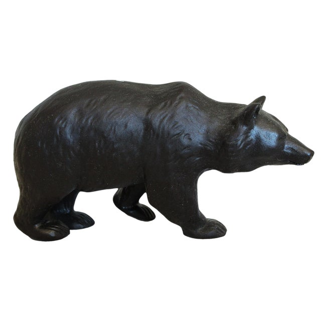 Early 20th Century Antique Ernest W. Light for Wedgwood Basalt Bear Model For Sale