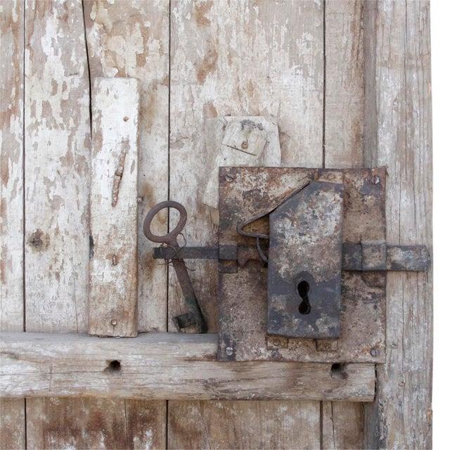 Primitive 19th Century Tribal Cedar Door For Sale - Image 3 of 8